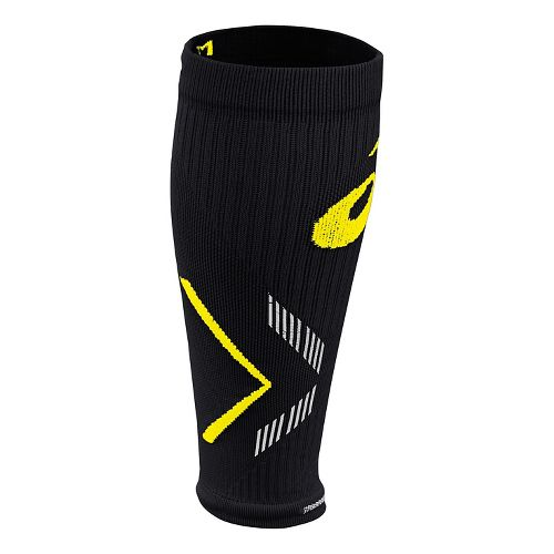 ASICS Lite-Show Rally Leg Sleeves Injury Recovery - Black/Safety Yellow XL