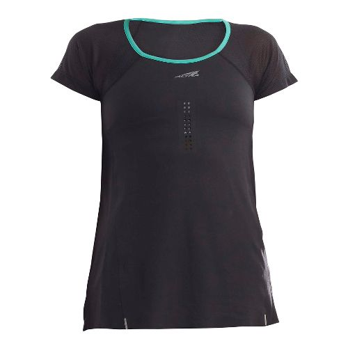 Womens Altra Performance Tee Short Sleeve Technical Tops - Black/Peacock M