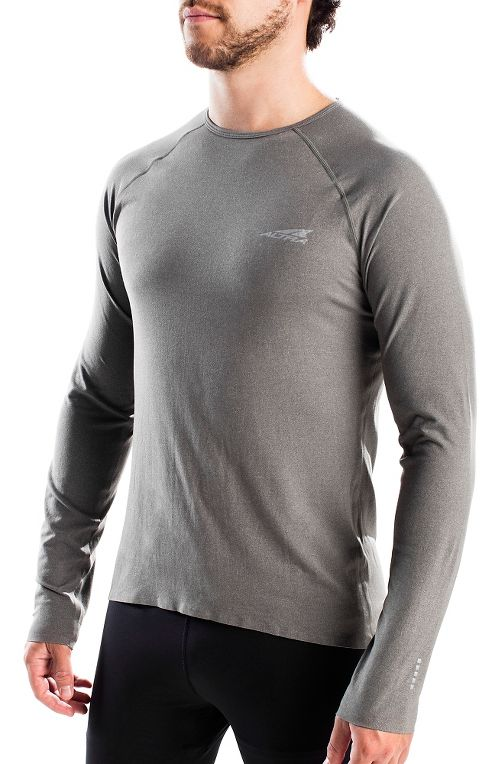 Mens Altra Running Tee Long Sleeve Technical Tops - Grey L