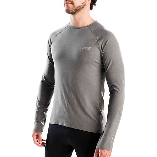 Mens Altra Running Tee Long Sleeve Technical Tops - Grey S