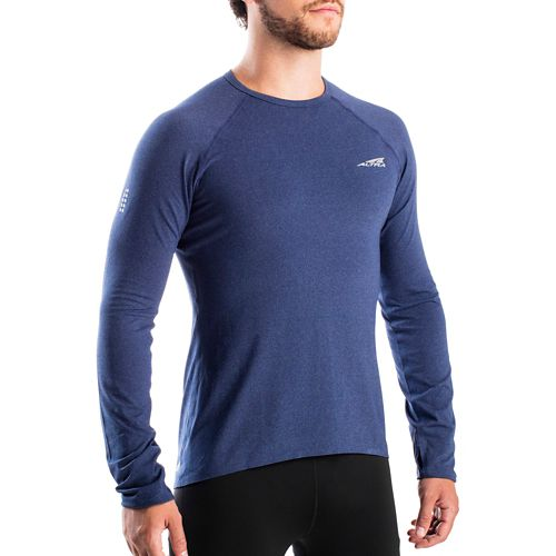 Mens Altra Running Tee Long Sleeve Technical Tops - Navy M