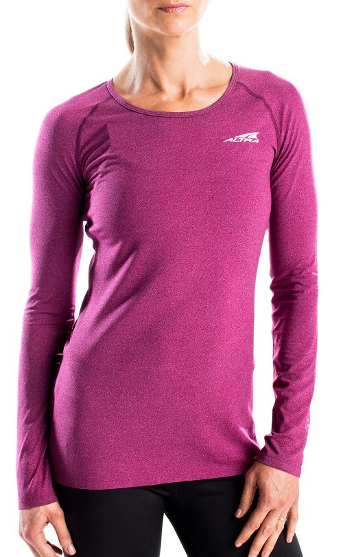 Womens Altra Running Tee Long Sleeve Technical Tops - Magenta L