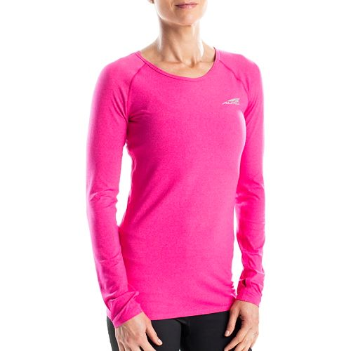 Womens Altra Running Tee Long Sleeve Technical Tops - Beetroot M