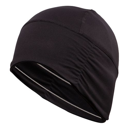 ASICS Thermopolis LT Ruched Beanie Headwear - Black/White Stripes