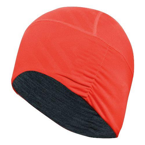 ASICS Thermopolis LT Ruched Beanie Headwear - Grey Heather/Orange