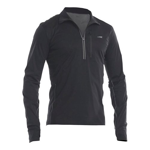 Mens Altra Performance Half-Zips & Hoodies Technical Tops - Black XL