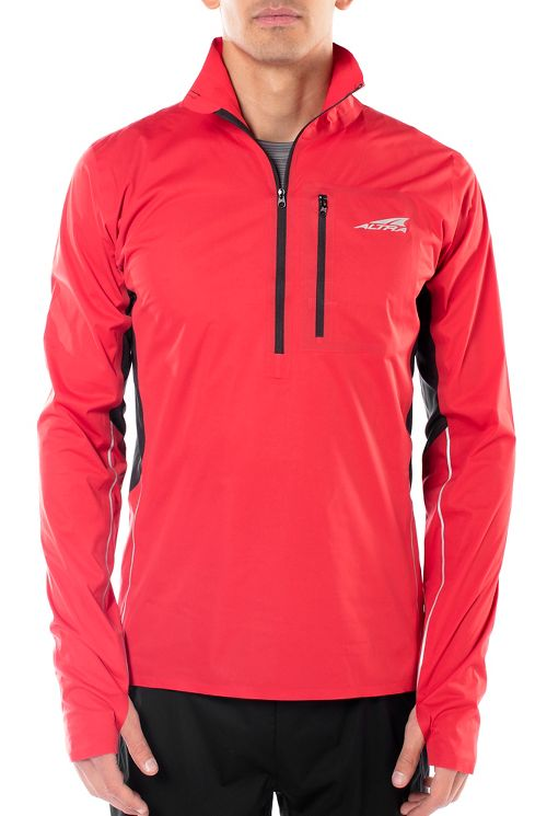 Mens Altra Performance Half-Zips & Hoodies Technical Tops - Red L