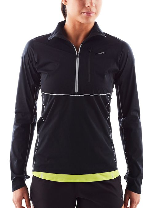 Womens Altra Performance Half-Zips & Hoodies Technical Tops - Black M