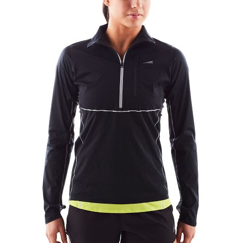 Womens Altra Performance Long Sleeve Half Zip Technical Tops - Black M