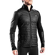 Mens Altra Performance Full Zip Zoned Heat Running Jackets - Black XL