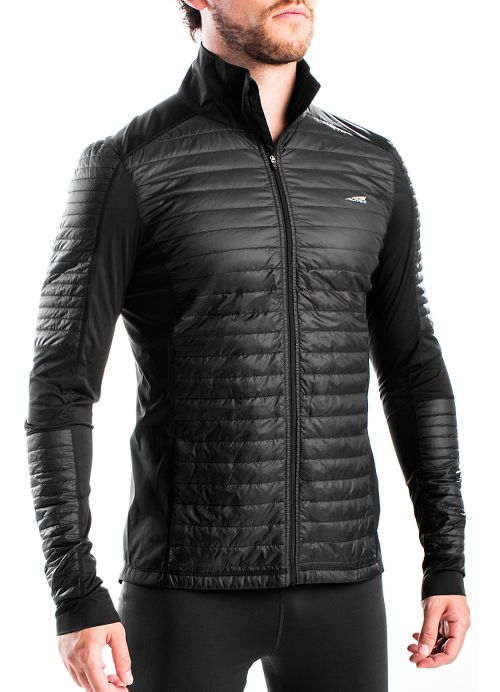 Mens Altra Performance Full Zip Zoned Heat Running Jackets - Black L