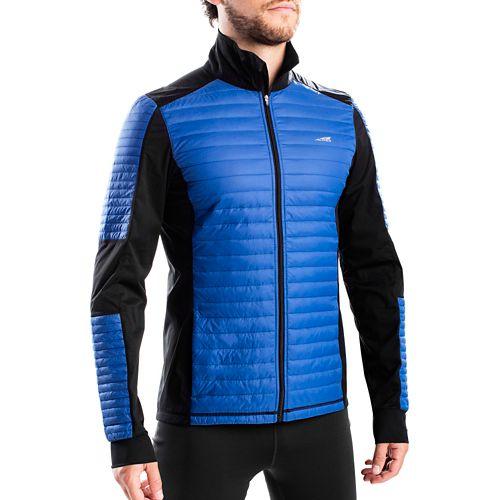 Mens Altra Performance Full Zip Zoned Heat Running Jackets - Blue XL