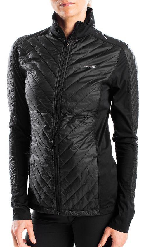 Womens Altra Performance Full Zip Zoned Heat Running Jackets - Black M