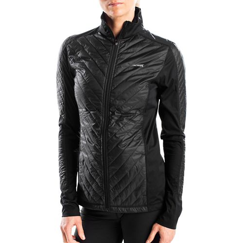 Womens Altra Performance Full Zip Zoned Heat Running Jackets - Black M