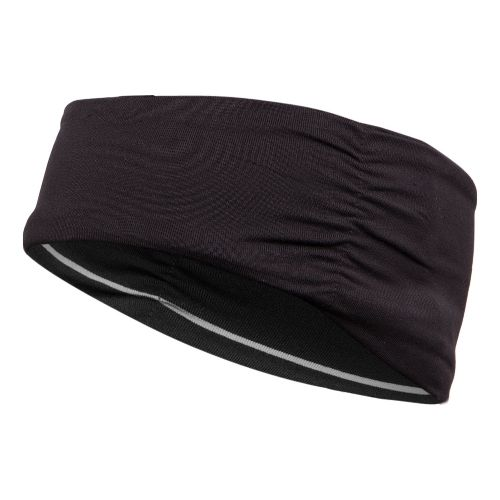 ASICS Thermopolis LT Ruched Headwarmer Headwear - Black/White Stripes