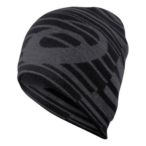 ASICS Reversible Knit Beanie Headwear - Black/Grey Heather