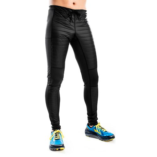 Mens Altra Performance Full Zoned Heat Tights & Leggings Pants - Black L
