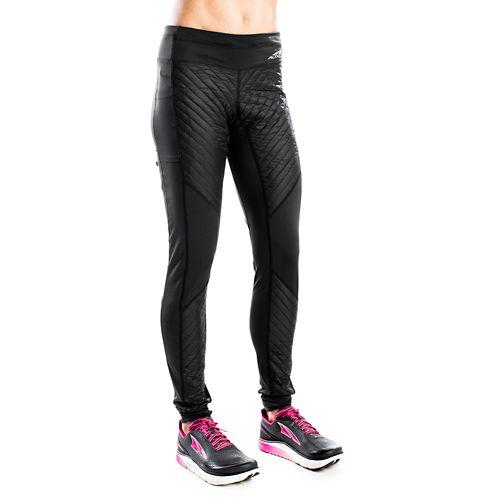 Womens Altra Performance Full Zoned Heat Tights & Leggings Pants - Black M
