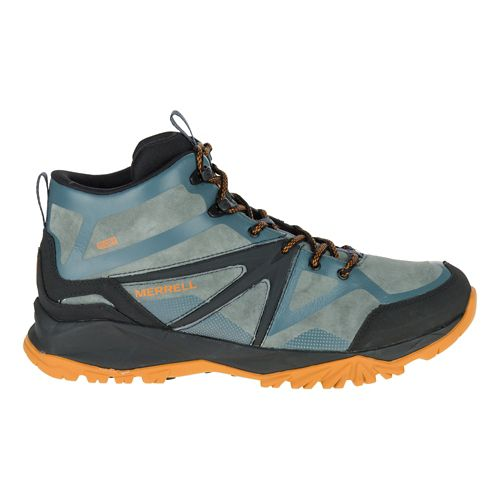 Mens Merrell Capra Bolt Leather Mid Waterproof Hiking Shoe - Dark Slate 12