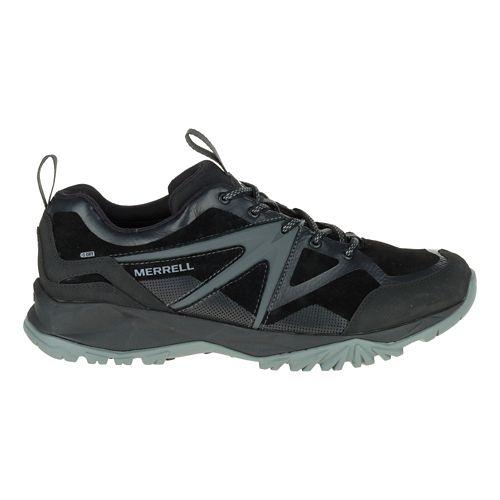 Mens Merrell Capra Bolt Leather Waterproof Hiking Shoe - Black 10.5