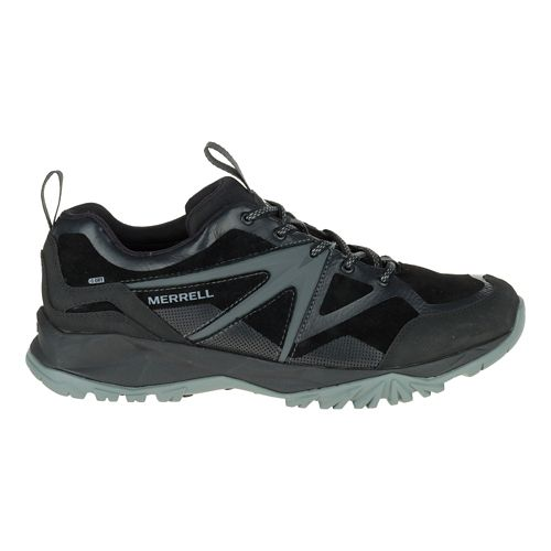 Mens Merrell Capra Bolt Leather Waterproof Hiking Shoe - Black 12