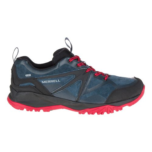 Mens Merrell Capra Bolt Leather Waterproof Hiking Shoe - Navy 8