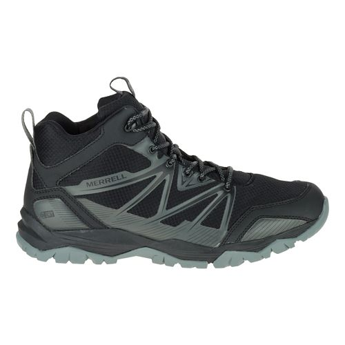 Mens Merrell Capra Rise Mid Waterproof Hiking Shoe - Black 7.5