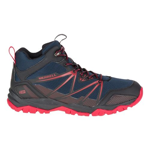 Mens Merrell Capra Rise Mid Waterproof Hiking Shoe - Navy 10.5
