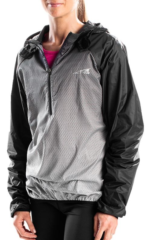 Altra Packable Windbreaker Running Jackets - Black/Silver L