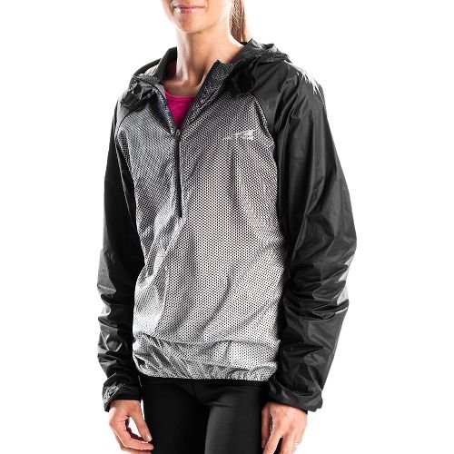 Altra Packable Windbreaker Running Jackets - Black/Silver M