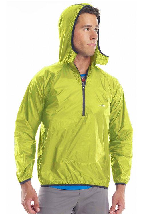 Altra Packable Windbreaker Running Jackets - Lime M