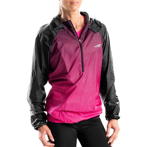 Altra Packable Windbreaker Running Jackets - Beetroot S