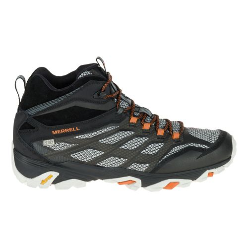 Mens Merrell Moab FST Mid Waterproof Hiking Shoe - Black 9