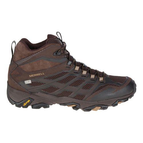 Mens Merrell Moab FST Mid Waterproof Hiking Shoe - Brown 7