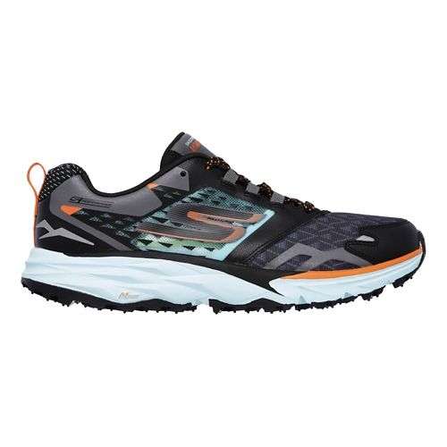 Womens Skechers GO Trail  Running Shoe - Black/Aqua 8.5
