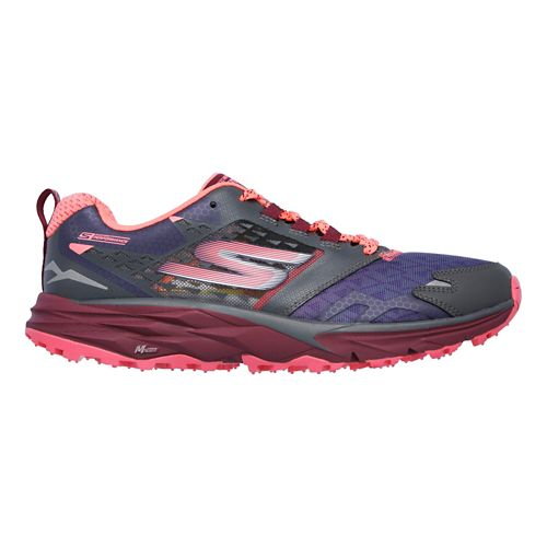 Womens Skechers GO Trail  Running Shoe - Charcoal/Multi 7.5