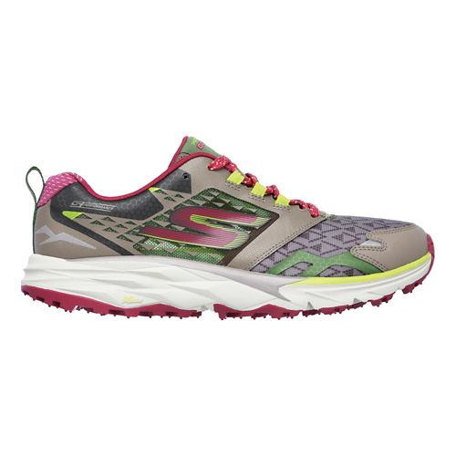 Womens Skechers GO Trail  Running Shoe - Taupe/Pink 5.5