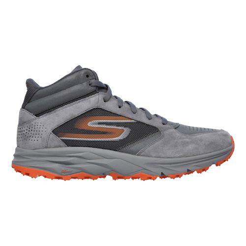 Mens Skechers GO Trail Boot Trail Running Shoe - Charcoal/Orange 10.5