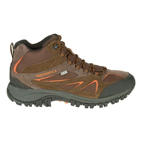 Mens Merrell Phoenix Bluff Mid Waterproof Hiking Shoe - Dark Brown 7