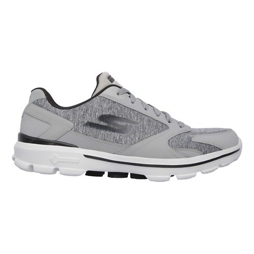Mens Skechers GO Walk 3 - Aviator Casual Shoe - Charcoal/Black 8.5