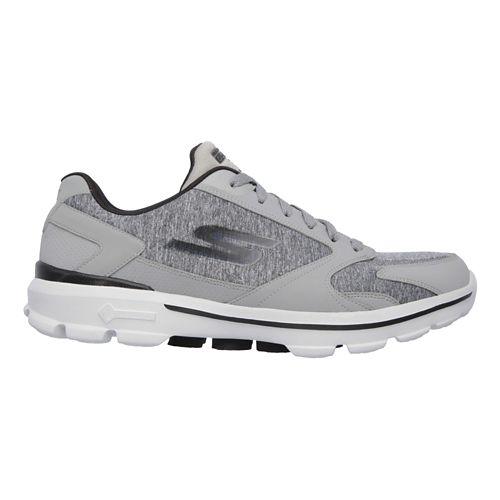 Mens Skechers GO Walk 3 - Aviator Casual Shoe - Charcoal/Black 9