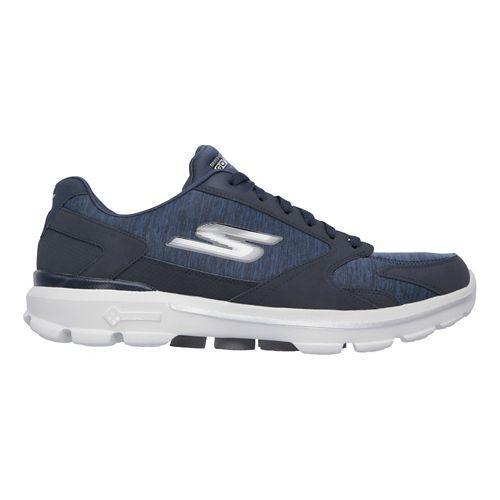 Mens Skechers GO Walk 3 - Aviator Casual Shoe - Navy/Grey 9.5