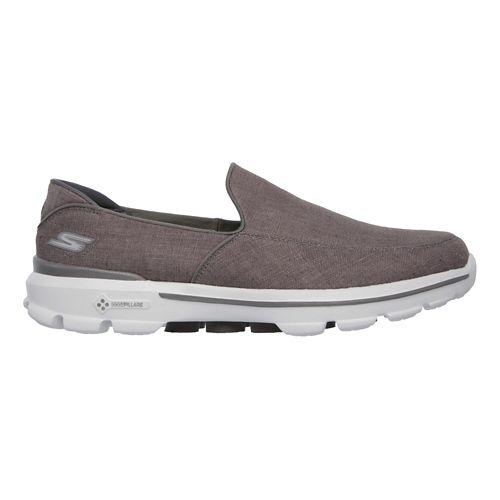 Mens Skechers GO Walk 3 - Breaker Casual Shoe - Charcoal 7