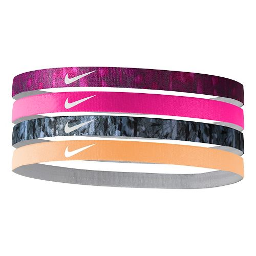 Nike Girls Assorted Headband 4 pack Headwear - Black/Racer Pink