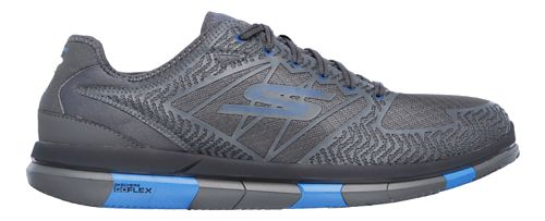 Mens Skechers GO Flex Casual Shoe - Charcoal/Blue 10.5
