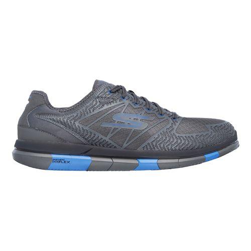 Mens Skechers GO Flex Casual Shoe - Charcoal/Blue 10