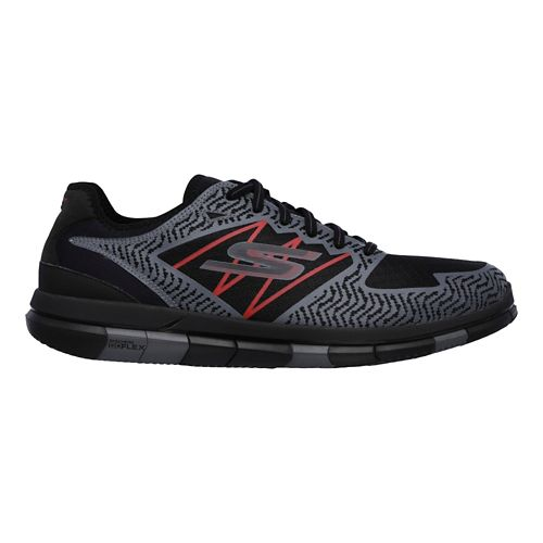 Mens Skechers GO Flex Casual Shoe - Black/Red 10.5