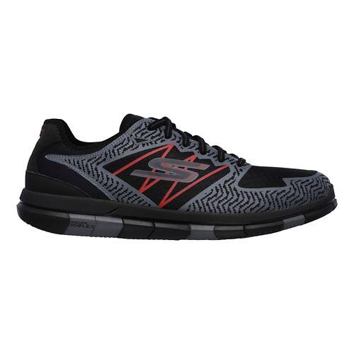 Mens Skechers GO Flex Casual Shoe - Black/Red 7