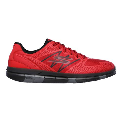 Mens Skechers GO Flex Casual Shoe - Red/Black 14
