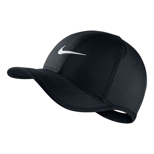 Nike Kids Featherlight Adjustable Hat Headwear - Black/White
